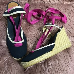 J.Crew Lace Up Espadrille Wedge